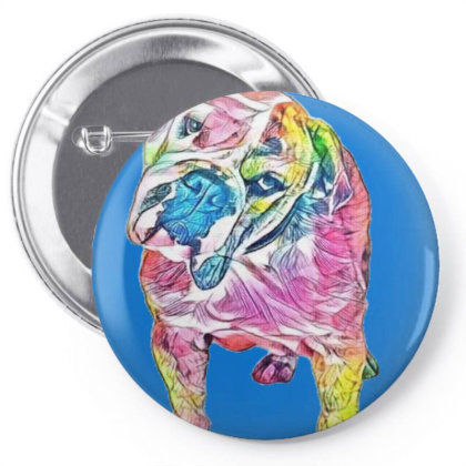 Cute And Curious Bulldog Bree Pin-back Button Designed By Kemnabi