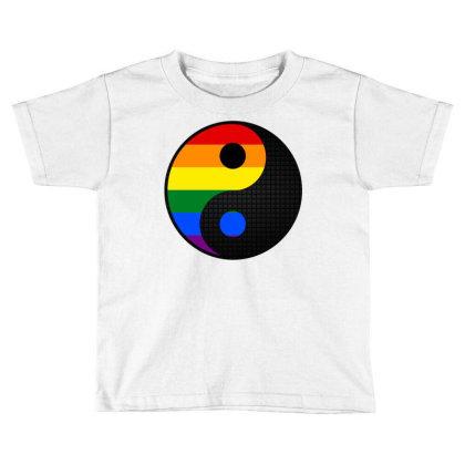 Ying Yang Lgbt Toddler T-shirt Designed By Badaudesign