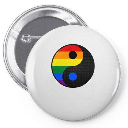 Ying Yang Lgbt Pin-back Button Designed By Badaudesign