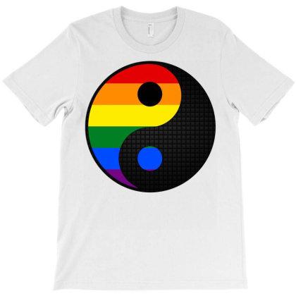 Ying Yang Lgbt T-shirt Designed By Badaudesign