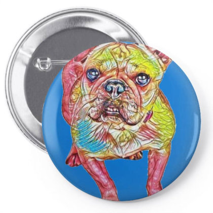 Adorable French Bulldog Breed Pin-back Button Designed By Kemnabi