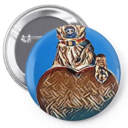 Adorable Large Mixed Breed Do Pin-back Button Designed By Kemnabi