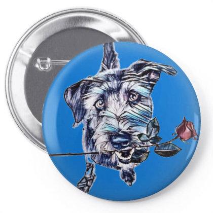 Friendly Crossbreed Dog Sitti Pin-back Button Designed By Kemnabi
