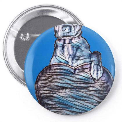 Cute Mixed Terrier Small Bree Pin-back Button Designed By Kemnabi