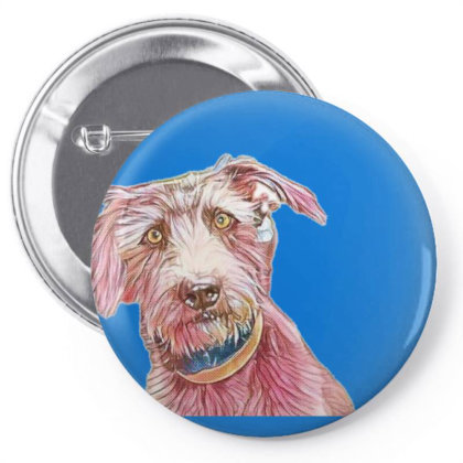Adorable Terrier Mixed Breed Pin-back Button Designed By Kemnabi