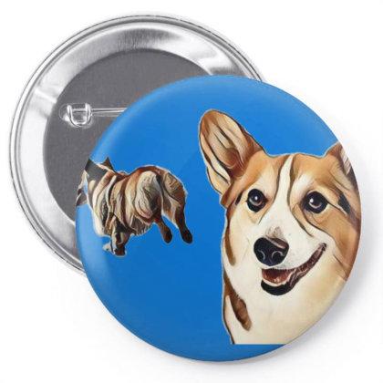 Two Pembroke Welsh Corgi Dogs Pin-back Button Designed By Kemnabi