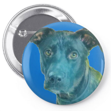 Cute Young Mixed Dog  Under A Pin-back Button Designed By Kemnabi
