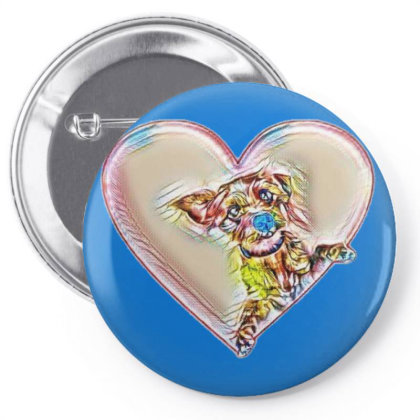 Adorable Little Terrier Mixed Pin-back Button Designed By Kemnabi