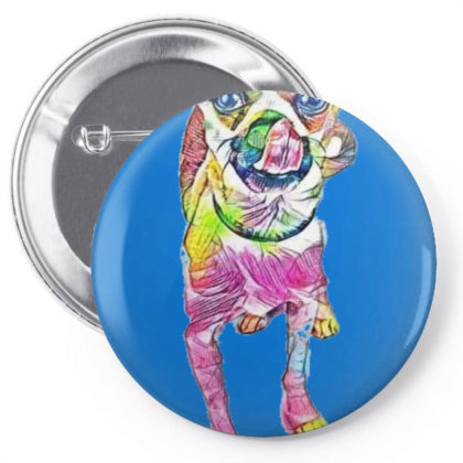 Cute Little Chihuahua And Pug Pin-back Button Designed By Kemnabi