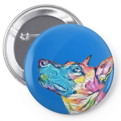 Shepherd Dog Looking Up At Ha Pin-back Button Designed By Kemnabi