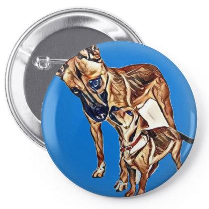 Loving Portrait Of Cute Sheph Pin-back Button Designed By Kemnabi