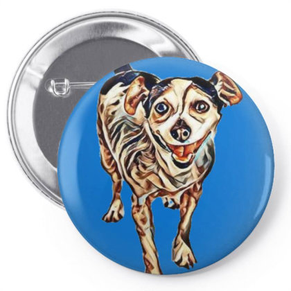 Cute Little Jack Russell Mixe Pin-back Button Designed By Kemnabi