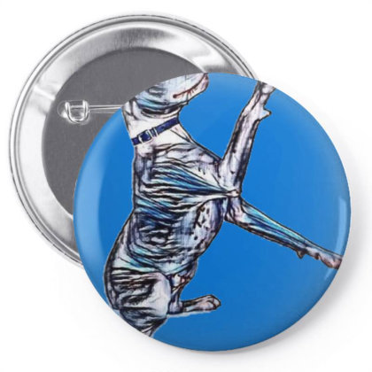 Cute And Friendly Pit Bull Mi Pin-back Button Designed By Kemnabi