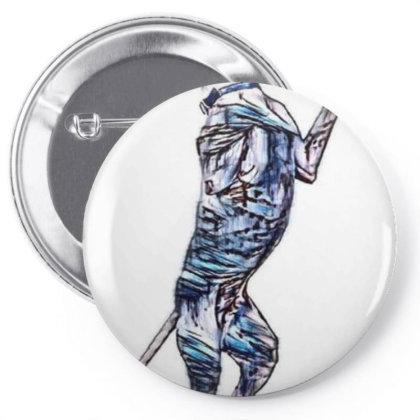 A Big Pit Bull Crossbreed Dog Pin-back Button Designed By Kemnabi