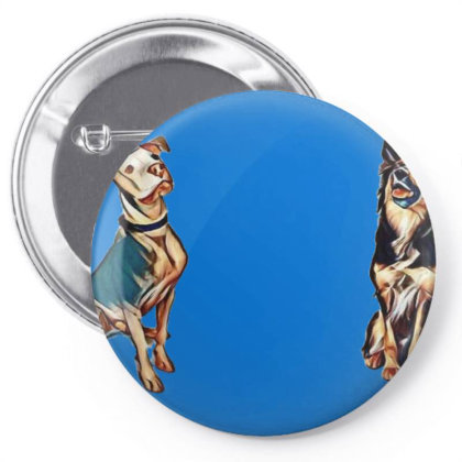 Two Beautiful Mixed Large Bre Pin-back Button Designed By Kemnabi