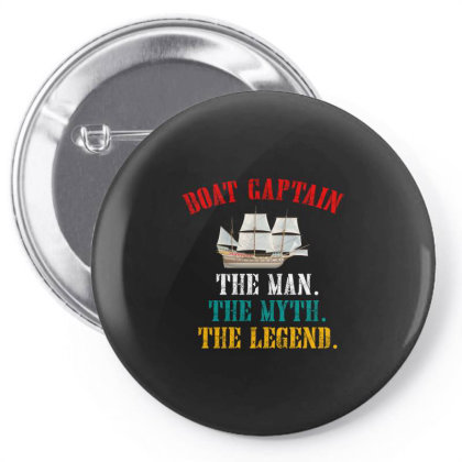 Boat Captain The Man The Myth The Legend Pin-back Button Designed By Cuser2397
