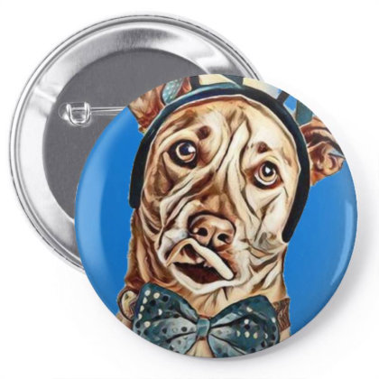 Funny Photo Of A Large Dog Wi Pin-back Button Designed By Kemnabi