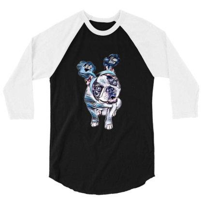 Cute Little French Bulldog Br 3/4 Sleeve Shirt Designed By Kemnabi