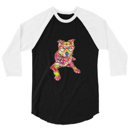 Cute Golden Retriever Mixed B 3/4 Sleeve Shirt Designed By Kemnabi