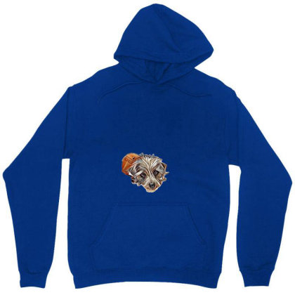 Cute Small Mixed Breed Dog La Unisex Hoodie Designed By Kemnabi