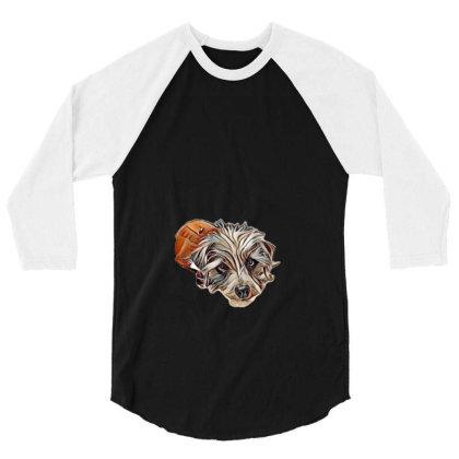 Cute Small Mixed Breed Dog La 3/4 Sleeve Shirt Designed By Kemnabi