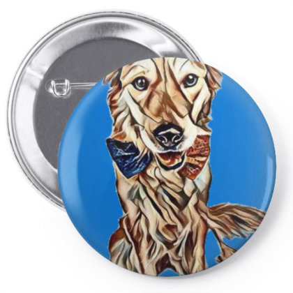 Golden Retriever Mixed Breed Pin-back Button Designed By Kemnabi