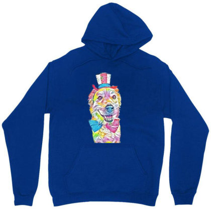 Happy And Smiling Golden Retr Unisex Hoodie Designed By Kemnabi