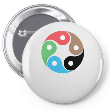 Zentao Symbol As Evolution Of The Tao (yin Yang) Pin-back Button Designed By L4l4pow
