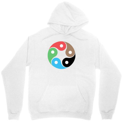 Zentao Symbol As Evolution Of The Tao (yin Yang) Unisex Hoodie Designed By L4l4pow