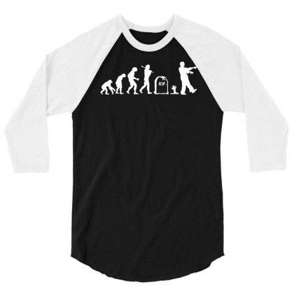 Zombie Evolution 3/4 Sleeve Shirt Designed By L4l4pow