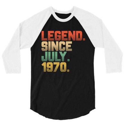 Legend Since July 1970 3/4 Sleeve Shirt Designed By Ashlıcar