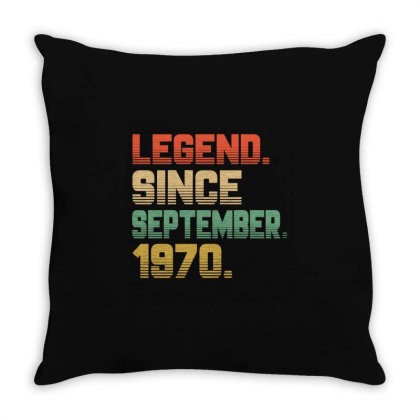 Legend Since September 1970 Throw Pillow Designed By Ashlıcar