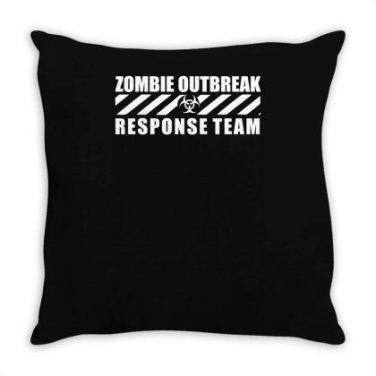 Zombie Outbreak Response Team Throw Pillow Designed By L4l4pow