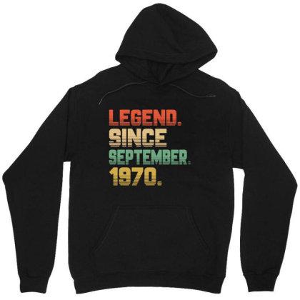 Legend Since September 1970 Unisex Hoodie Designed By Ashlıcar