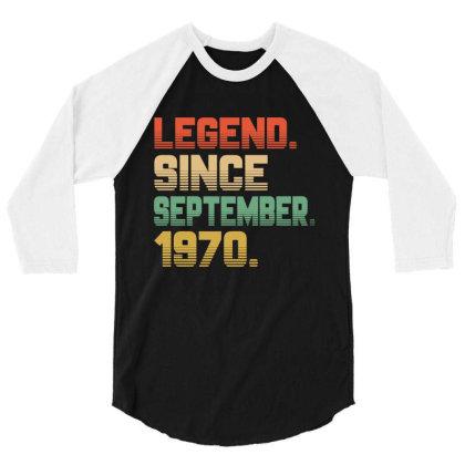 Legend Since September 1970 3/4 Sleeve Shirt Designed By Ashlıcar