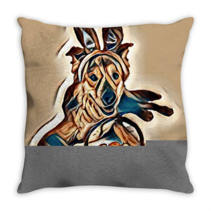 Happy And Golden Retriever Mi Throw Pillow Designed By Kemnabi
