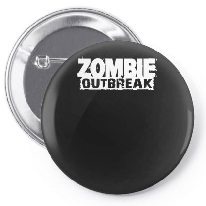 Zombie Outbreak Pin-back Button Designed By L4l4pow