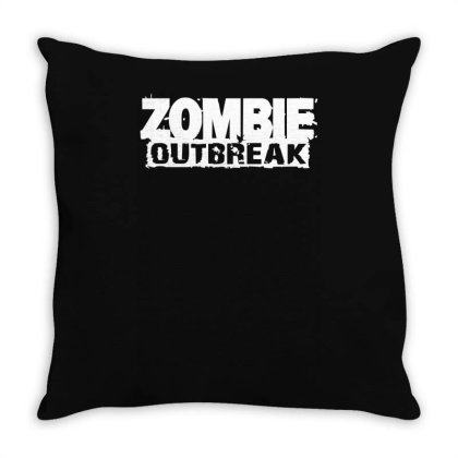 Zombie Outbreak Throw Pillow Designed By L4l4pow