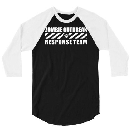 Zombie Outbreak Response Team 3/4 Sleeve Shirt Designed By L4l4pow