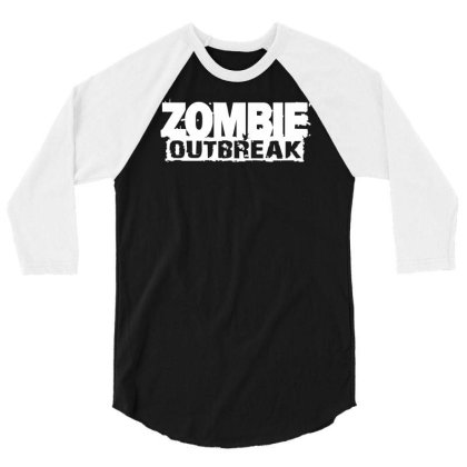 Zombie Outbreak 3/4 Sleeve Shirt Designed By L4l4pow