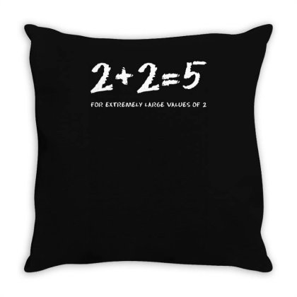 2+2=5   Science   Physiques Throw Pillow Designed By L4l4pow