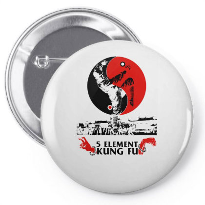5 Element Kung Fu Pin-back Button Designed By L4l4pow