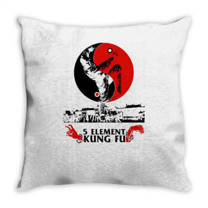 5 Element Kung Fu Throw Pillow Designed By L4l4pow