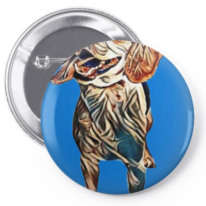 Happy And Active Young Beagle Pin-back Button Designed By Kemnabi
