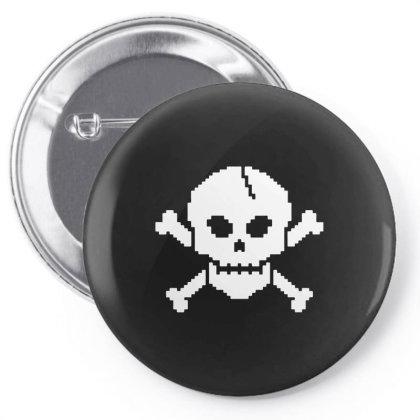 8 Bit Skull Pin-back Button Designed By L4l4pow