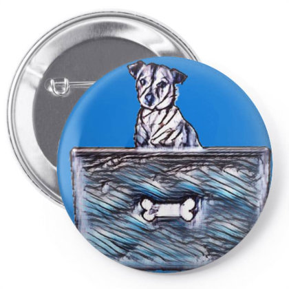 Cute Little Rescue Mixed Bree Pin-back Button Designed By Kemnabi