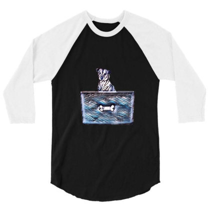 Cute Little Rescue Mixed Bree 3/4 Sleeve Shirt Designed By Kemnabi