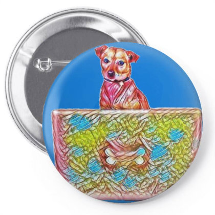 Cute Chihuahua Mixed Breed Do Pin-back Button Designed By Kemnabi