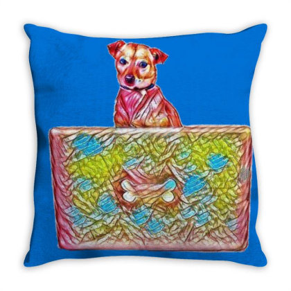 Cute Chihuahua Mixed Breed Do Throw Pillow Designed By Kemnabi