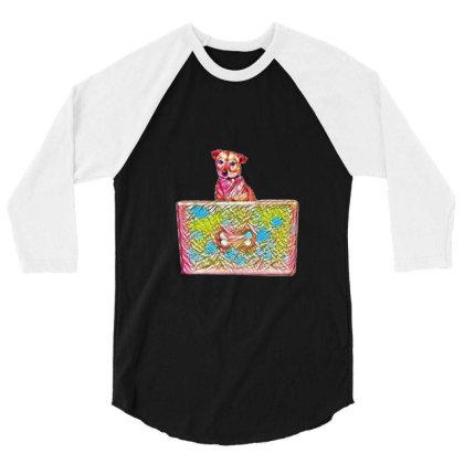 Cute Chihuahua Mixed Breed Do 3/4 Sleeve Shirt Designed By Kemnabi